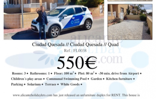 PROPERTIES FOR RENT LONG TERM AVAILABLE IN QUESADA AND LA FINCA GOLF